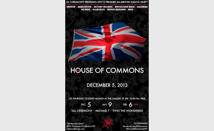 DJ Ceremony spins at House Of Commons: December 5, 2013